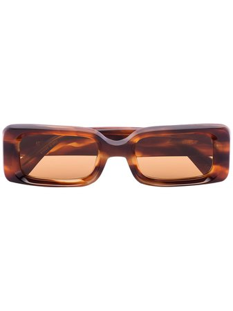 Kaleos Havana Barbarella Tortoiseshell Sunglasses 1467130 Brown | Farfetch