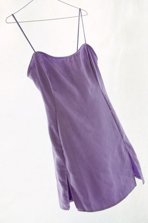 Motel Zenaya Satin Notched Mini Dress | Urban Outfitters