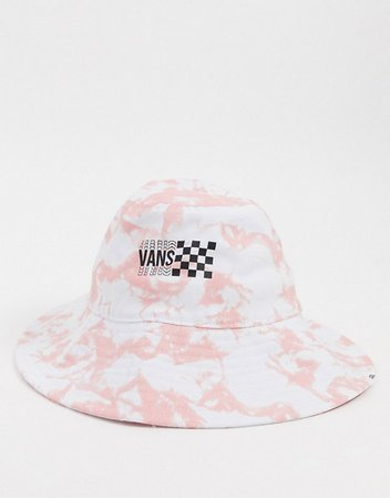 Vans Sun Dazed Floppy bucket hat in tie dye pink | ASOS
