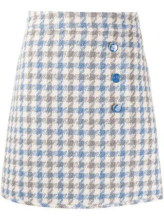 Sandro Paris Calia Houndstooth Tweed Skirt