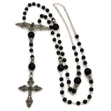 Gothic Rosary - Bat Rosary: Church meets Bat