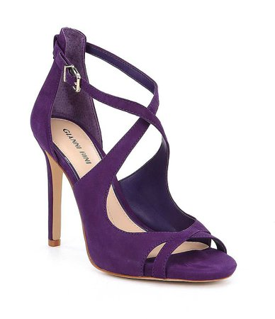 Gianni Bini Laydie Tumbled Buff Goat Leather Ankle Strap Dress Sandals | Dillards