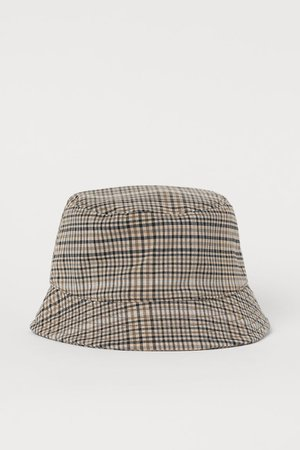 Checked Bucket Hat - Beige/checked - Men | H&M US