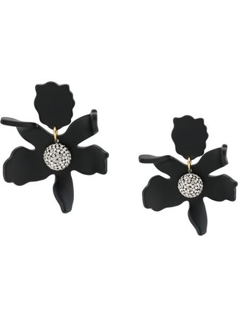 Lele Sadoughi Lily Crystal Earrings LS0625JT Black | Farfetch