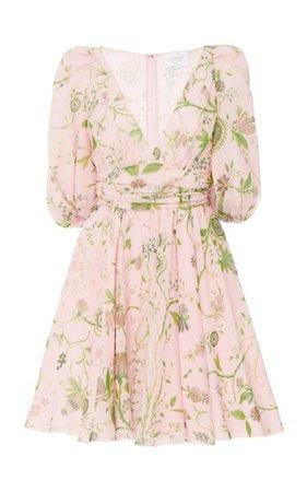Floral-Printed Silk Mini Dress By Giambattista Valli