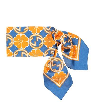 Gucci - Printed silk scarf | Mytheresa