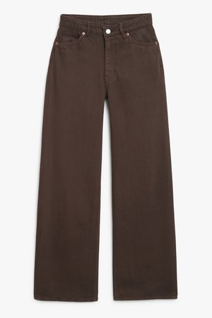 Yoko brown - Brown - Jeans - Monki WW