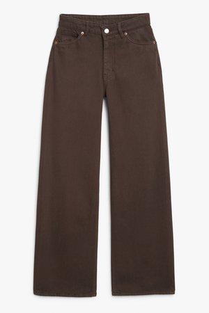 Yoko brown - Brown - Jeans - Monki WW