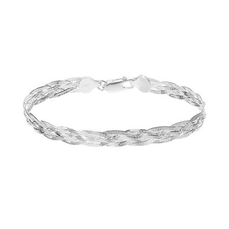 Silver Classics Sterling Silver Braided Bracelet