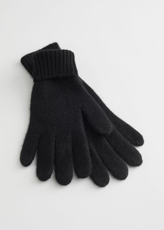 Knitted Cashmere Gloves - Black - Gloves - & Other Stories