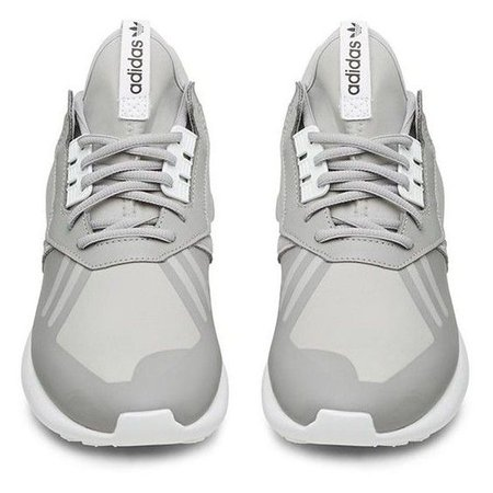 Adidas Grey and White Tubular Runner