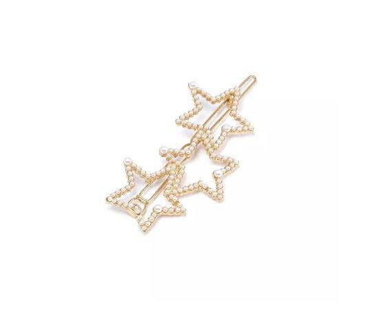 Pearl Star Hair Clip 2
