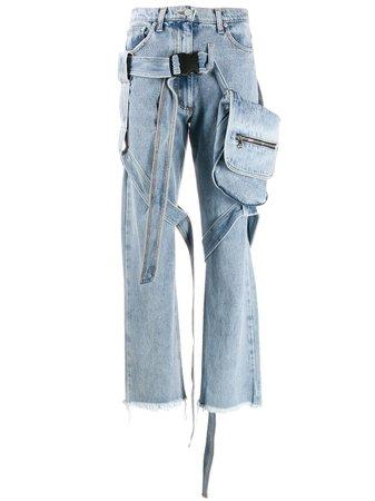 Natasha Zinko Strap-Embellished Utility Jeans Aw19 | Farfetch.com