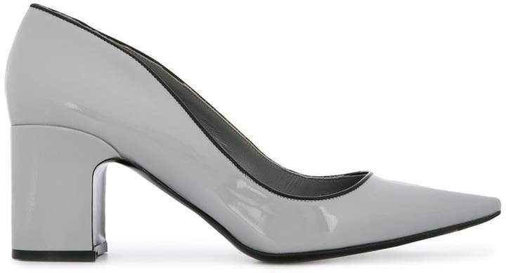 Fabrizio Viti chunky heel piped opening pumps