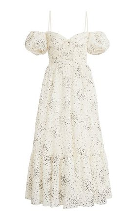 Embroidered Lace Midi Dress By Giambattista Valli | Moda Operandi