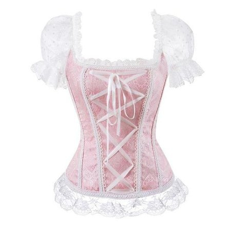 Pink Princess Genuine Corset Bustier Lace Up Boned | DDLG Playground