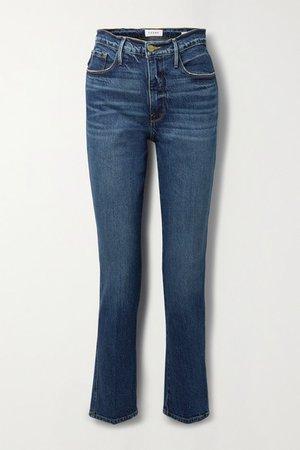 Le Sylvie High-rise Slim-leg Jeans - Mid denim