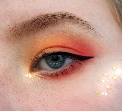 eyeshadow orange