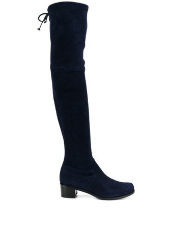Blue Stuart Weitzman Over-the-knee Boots | Farfetch.com