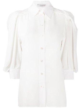 Givenchy gathered sleeve blouse