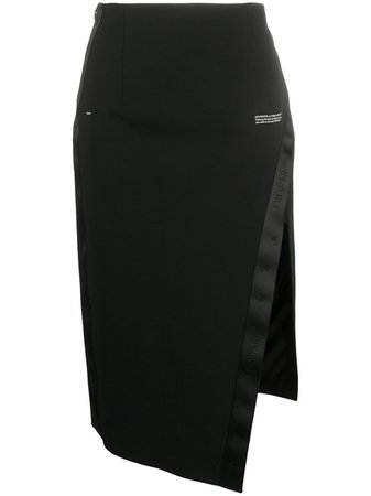 Off-White SIDE SPLIT SKIRT BLACK NO COLOR - Farfetch