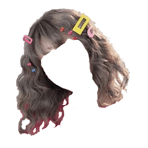 short brown hair bangs png clips