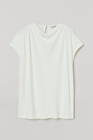 Draped Top - White