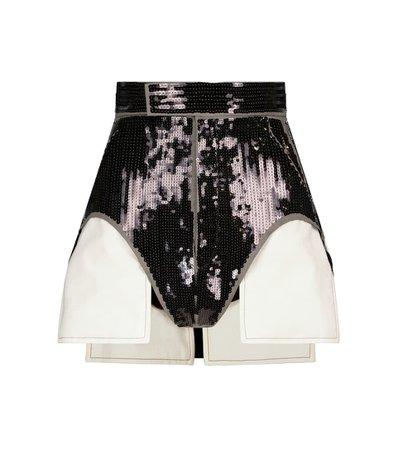 Rick Owens - High-rise sequined shorts   Mytheresa