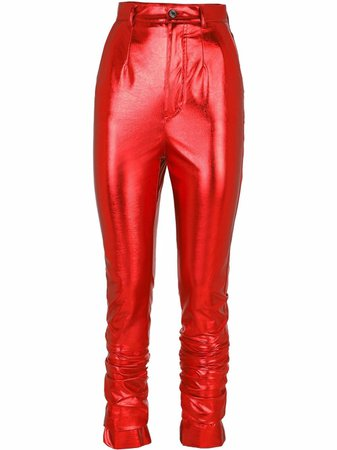 Shop Dolce & Gabbana high-shine skinny trousers with Express Delivery - FARFETCH