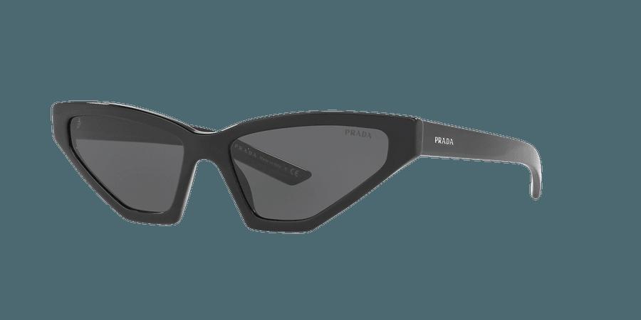 Prada PR 12VS 57 Grey-Black & Black Sunglasses | Sunglass Hut USA
