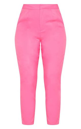 Bubblegum Pink Cropped Trouser | Trousers | PrettyLittleThing USA