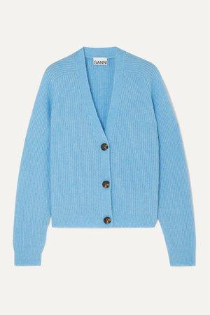 GANNI | Ribbed-knit cardigan | NET-A-PORTER.COM