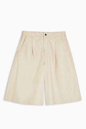 Ecru Leather Culottes | Topshop