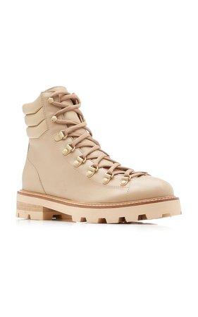 Leather Combat Boots Jimmy Choo