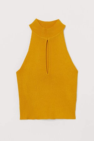 Sleeveless Short Top - Yellow