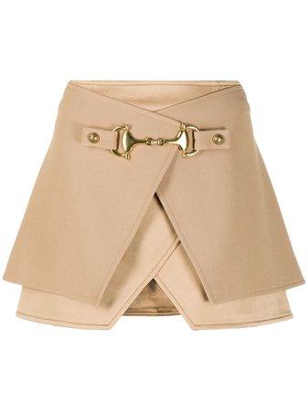 Balmain Horsebit Layered Mini Skirt - Farfetch