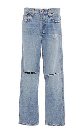 Low-Slung Cropped Jeans by Re/done | Moda Operandi