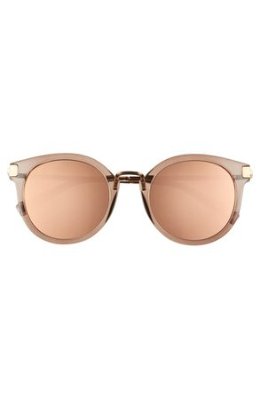 Le Specs Last Dance 51mm Mirrored Round Sunglasses | Nordstrom