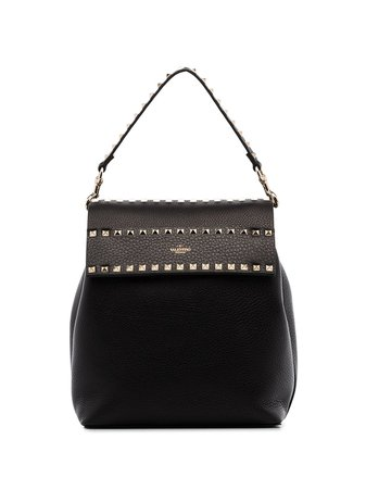 Valentino Garavani Rockstud Pebbled Leather Backpack - Farfetch