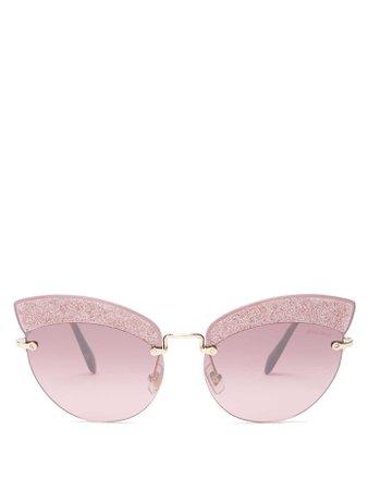 Glitter-embellished cat-eye sunglasses | Miu Miu | MATCHESFASHION.COM UK