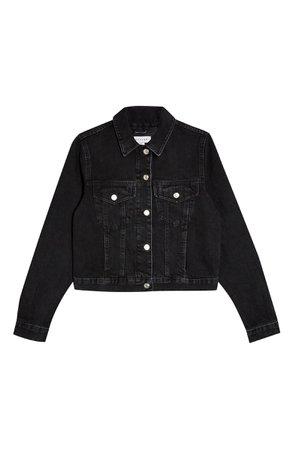 Topshop Tilda Crop Denim Jacket | Nordstrom