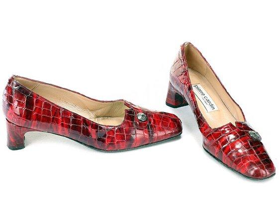 US 6.5 Pierre Cardin Red Heels Pumps Luxury Heels 90s   Etsy