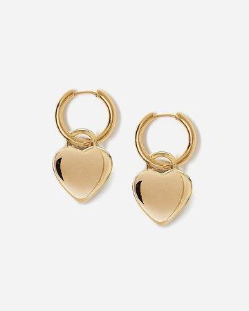 Tess + Tricia Heart Hoop Earrings