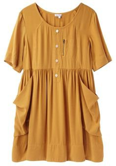 Mustard Yellow Pocket Dress