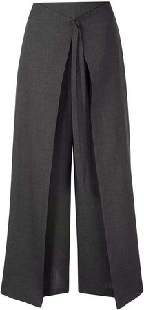 pleat detail palazzo trousers