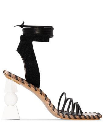 Jacquemus Valérie 105mm wrap-tie Sandals - Farfetch