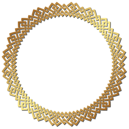 Gold Circle Frame (png)