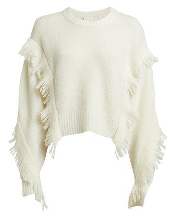 3.1 Phillip Lim | Fringe Wool-Blend Cropped Sweater | INTERMIX®