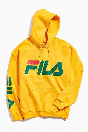 FILA Script Hoodie Sweatshirt   Urban Outfitters