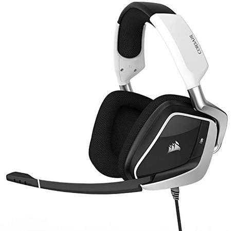 Amazon.com: CORSAIR Void PRO RGB USB Gaming Headset - Dolby 7.1 Surround Sound Headphones for PC - Discord Certified - 50mm Drivers - White: Computers & Accessories